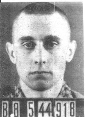 André Wynen à son entrée à Buchenwald
